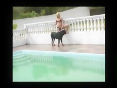 Video porn blonde with horses